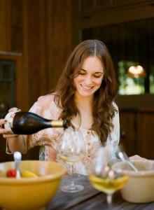 Christina Turley pouring
