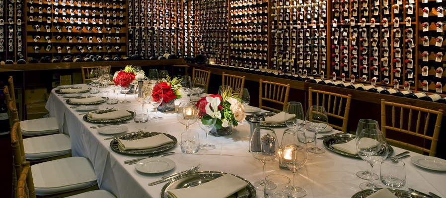 Valentinos wine room - photo from website, but it was set for dinner just like this!