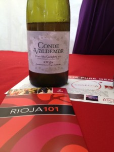 Rioja table, crisp grapefruity white