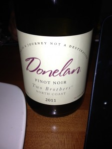 2011 Donelan Two Brothers Pinot Noir