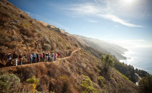 Hiking with Stemware in Big Sur