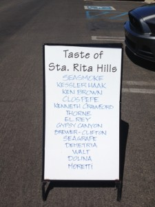 Sign at Taste of Sta Rita Hills