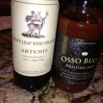 Stag's Leap Wine Cellars 2010 Artemis Cab and Williams Sonoma Osso Buco Braising Base