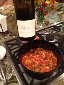 Domaine Gardies and pasta primavera sauce