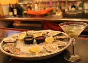 Martinis & oysters