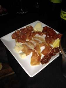 Proscuitto and salumi at Del Dotto