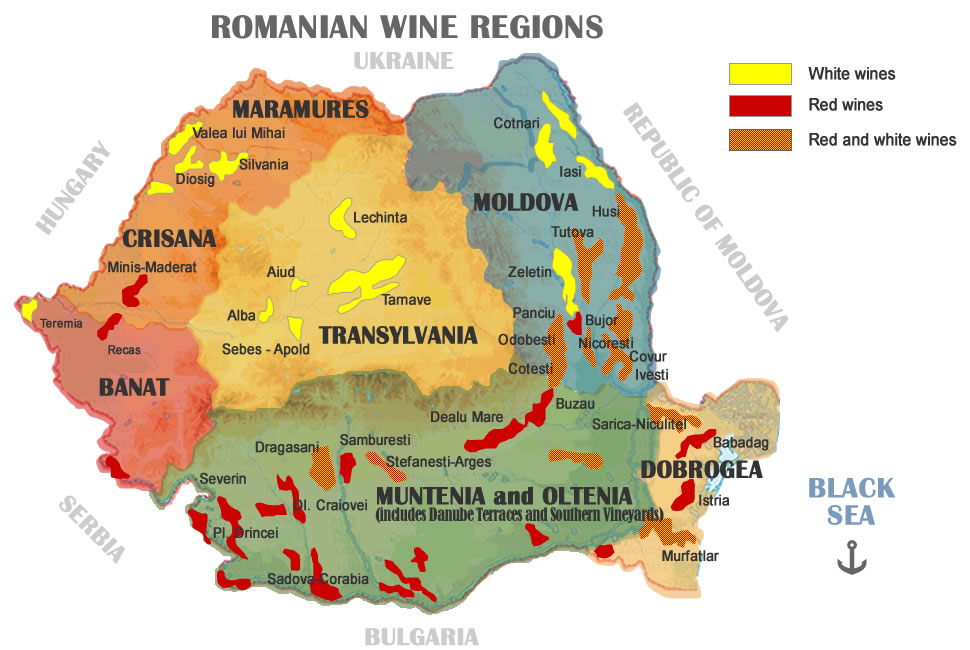 Romania birthplace of the gods of wine map of romanias wine regions publicscrutiny Choice Image