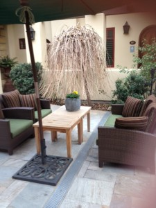 Hotel Cheval patio seating