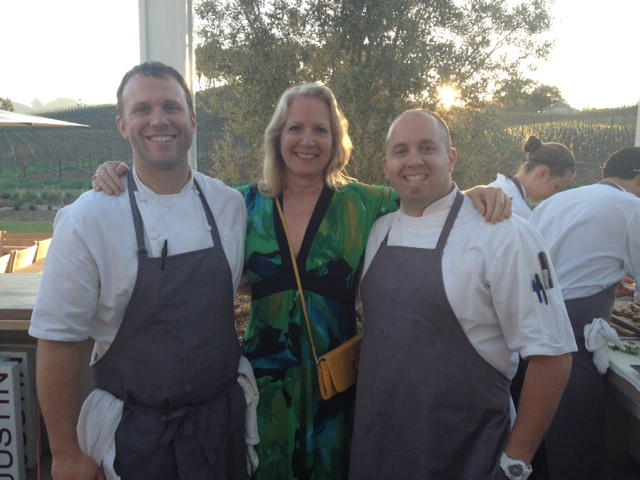 l-r: Chef Chris New, lucky Eve, Chef Will Torres.