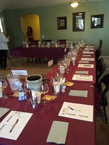 wine lesson and tasting