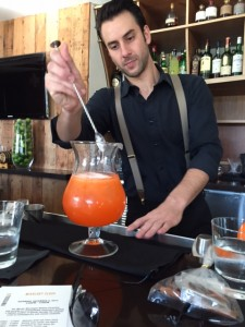 Perbellini making our Aperol Spritz