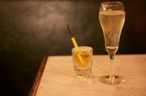 KATE MOSS A Glass of Prosecco and a Chilled Shot of Seasonal Infused Vodka 10