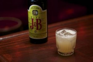 '1944' GOLDRUSH Vintage J&B Scotch Whiskey c. 1944,Fresh Lemon Juice, Honey, Rocks 16