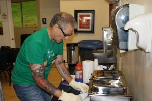 Best Chef de Chocolate 2015 Scott Ervin preparing his mole.