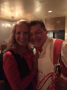 Italian butcher Dario Cecchini from Panzano, Chianti with Eve