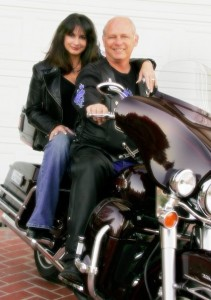 Pauline and Duane Harte on their Harley