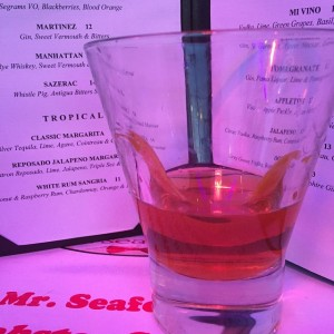Sazerac with Whistle Pig, Antigua Bitters, nice and neat