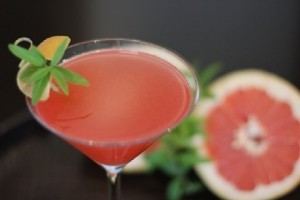 Emozioni a delicate dance of homemade lemon verbena syrup, fresh squeezed lemon juice, muddled ruby grapefruit, and belvedere wild berry infused vodka