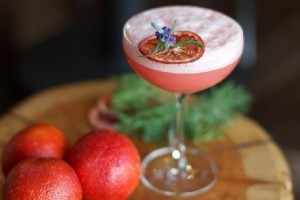 Giardini di Marzo close companions in the garden, blood orange and lavender complement one another in this tangy, fresh fusion of partida blanco tequila, homemade orancello and fresh lime juice; topped with a lavender-blood orange foam