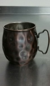 The new Copper Moscow Mule mug at Newhall Refinery