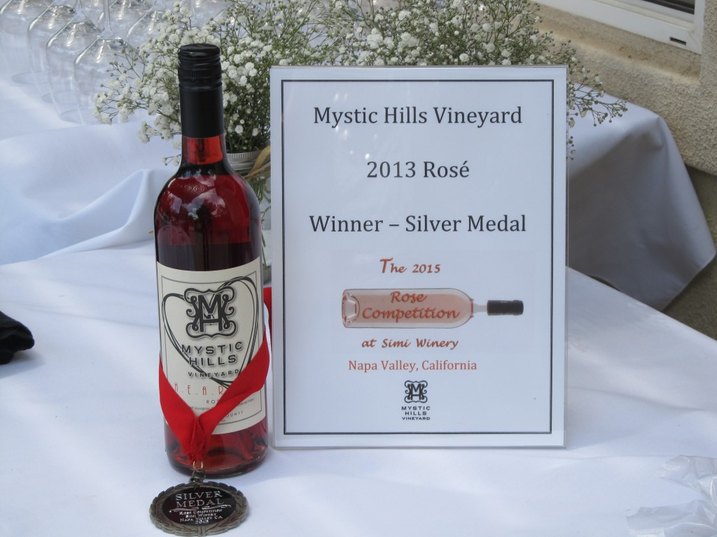 Mystic Hills Vineyard 2013 Rose silver award