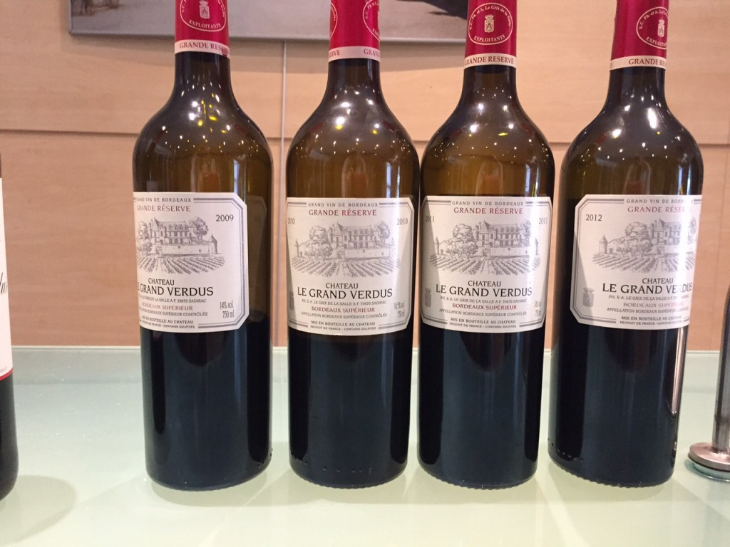 Vertical tasting at Chateau Le Grand Verdus