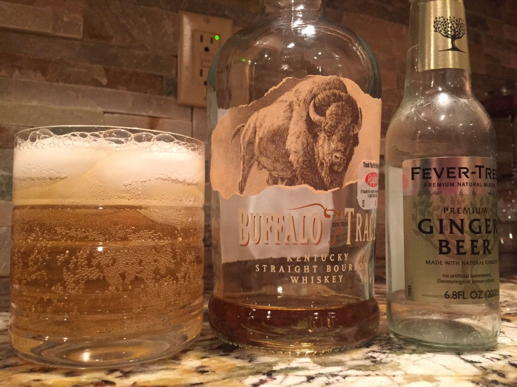 Brown and Story, 2oz borbon and 1 bottle ginger beer