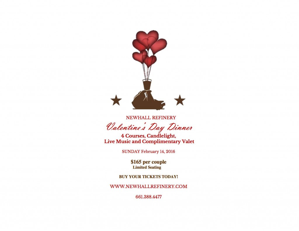 invite for valentines at Newhall Refinery