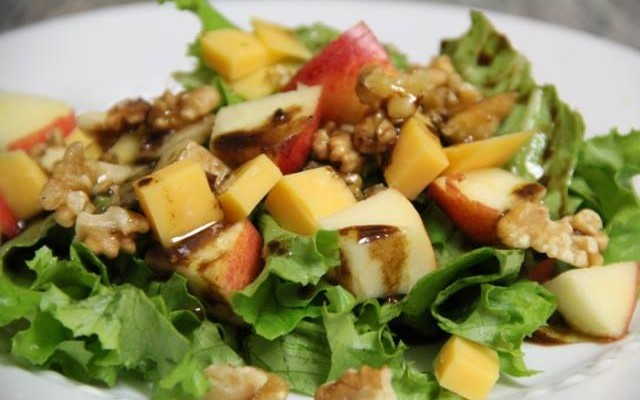 Chef Lance Cowart: Apple Salad, Cheddar cheese with Walnuts