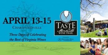 Taste of Monticello Wine Trail Festival returns to Charlottesville, Va., April 13-15