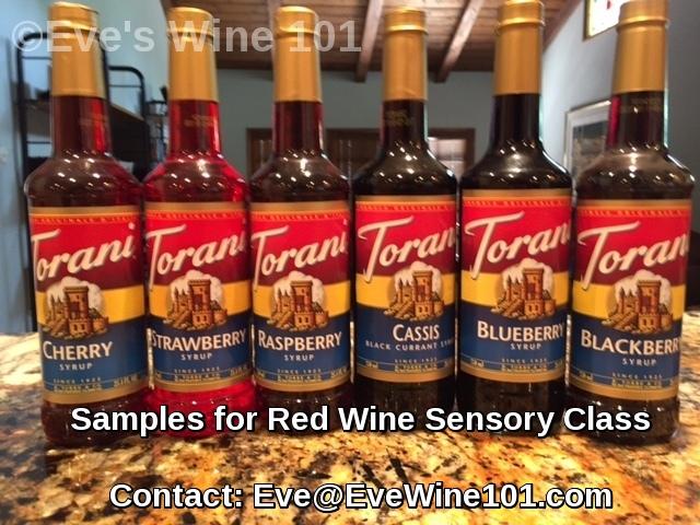 red wine torani sensory class