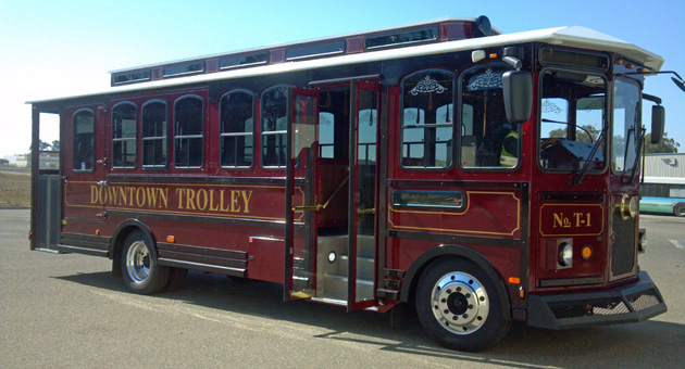 Santa Maria's new Downtown Trolley will transport consumers between shopping center serving a holiday shuttle this year. The vehicle is equipped with a classic trolley bell.