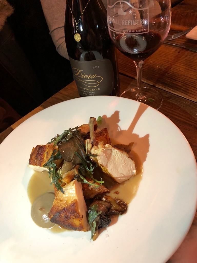 Diora Pinot and Airline Chicken Newhall Refinery