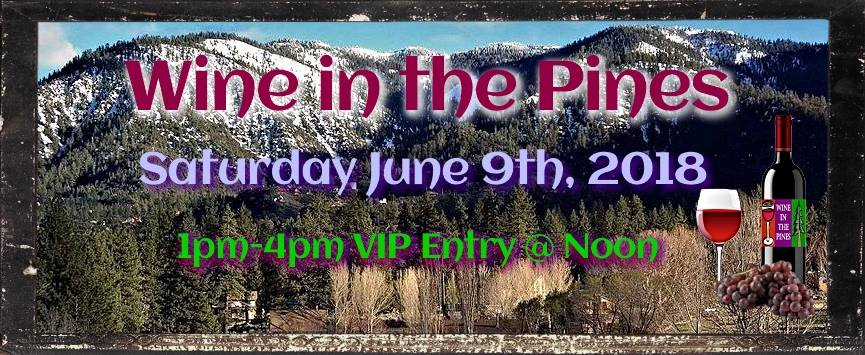 wine in the pines 2018 banner