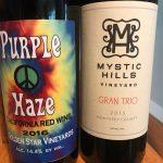 Two Bottle Post: Mystic Hills Vineyard Grand Trio and Golden Star Vineyards Purple Haze