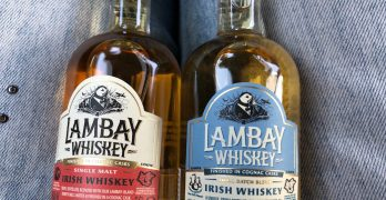 Sampling Lambay Irish Whiskey