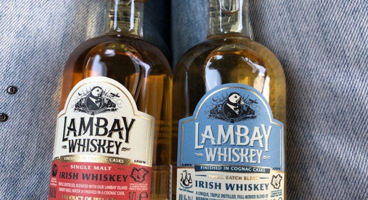 Sampling Lambay Irish Whiskey