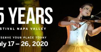 Festival Napa Valley Announces Its 15th Anniversary Season