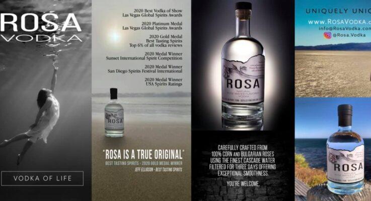 Rosa Vodka Sweeps Multiple Top Awards at Prestigious 2021 Festivals